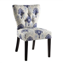 Dining Chair in Medallion Ikat Blue