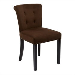 Dining Chair in Chocolate Velvet