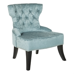 Tufted Chair in Grey
