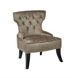 Tufted Chair in Brown