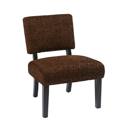 Accent Chair in Maze Chocolate