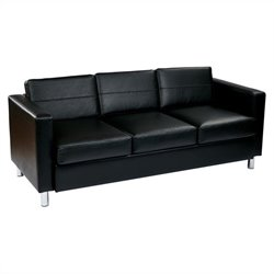 Avenue Six Pacific Sofa in Black