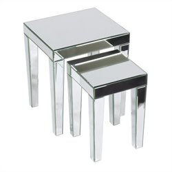 Nesting Tables in Silver Mirror