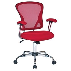 Mesh Back Office Chair in Red
