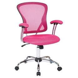 Mesh Back Office Chair in Pink