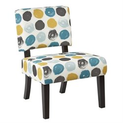 Avenue Six Jasmine Accent Chair in Brushed Dot Peacock