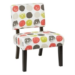 Avenue Six Jasmine Accent Chair in Brushed Poppy