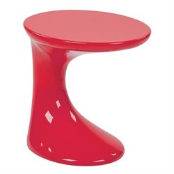 End Table in High Gloss Red