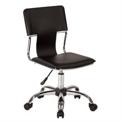 Office Chair in Black Vinyl