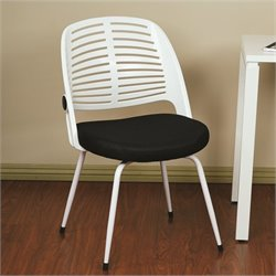 Black Guest Chair With Frame in White