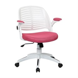 Pink Office Chair With Frame in White