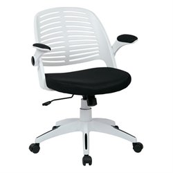 Black Office Chair With Frame in White