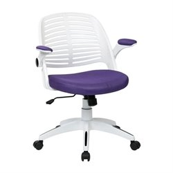 Purple Office Chair With Frame in White