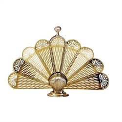 Medium Polished Brass Shell Fan Screen