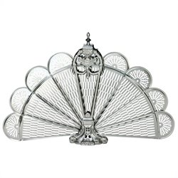 Pewter Finish Ornate Fan Screen