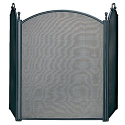 3 Fold Large Diameter Black Screen with Woven Mesh