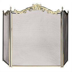 3 Fold Cast Solid Brass Screen