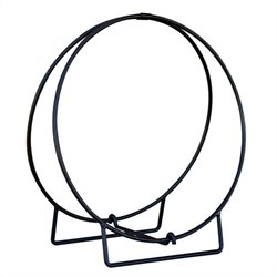 Black 36 Inch Diameter Log Hoop