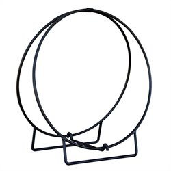 Black 24 Inch Diameter Log Hoop