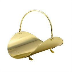 19 Inch Polished Brass Woodbasket