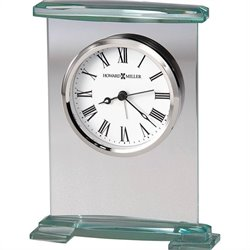Howard Miller Augustine Table Clock in Glass and Silver Finish