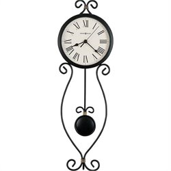 Howard Miller Ivana Wall Clock in Antique Black with Gold Highlights