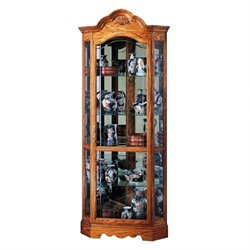 Howard Miller Wilshire Corner Display Curio Cabinet