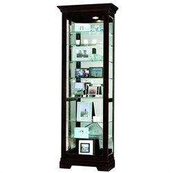 Howard Miller Saloman Eight Shelf Display Curio Cabinet