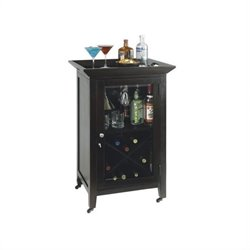 Howard Miller Butler Wine and Spirits Home Bar Console in Black