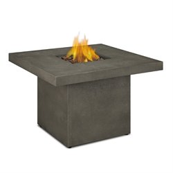 Real Flame Ventura Square Propane Fire Table in Glacier Gray