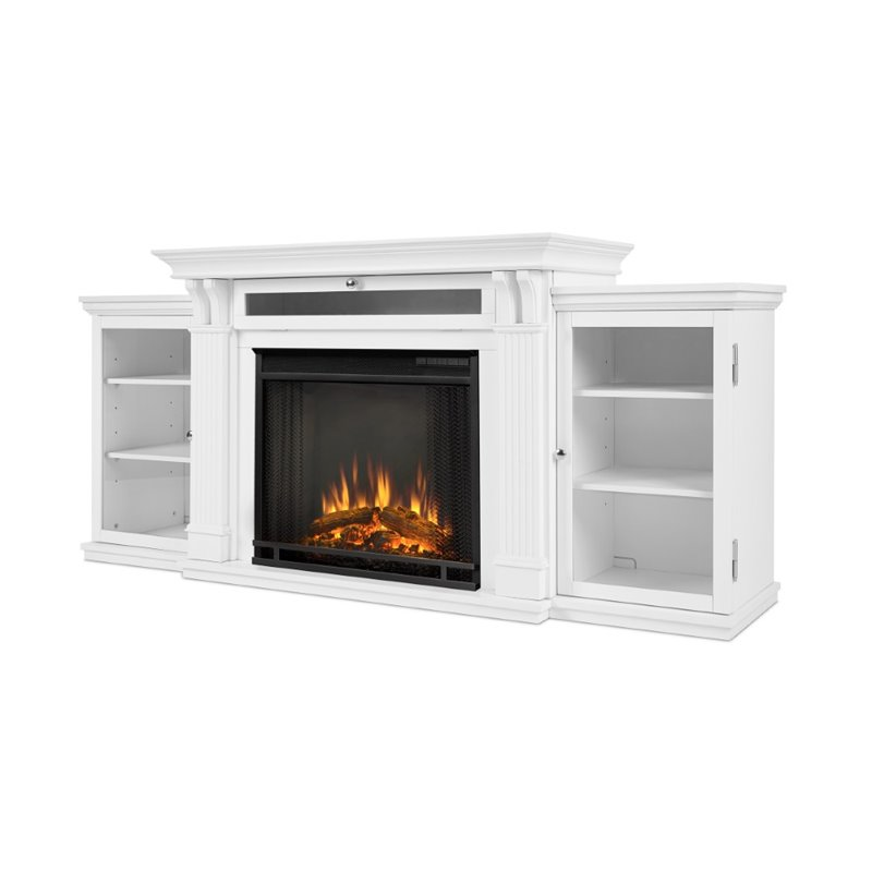 Real Flame Calie Electric Fireplace Entertainment Unit In White 7720e W