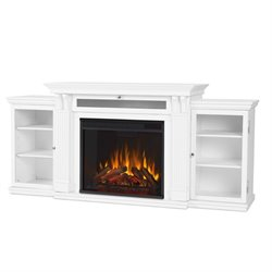 Real Flame Calie Electric Fireplace Entertainment Unit in White