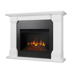 Real Flame Callaway Electric Fireplace in White