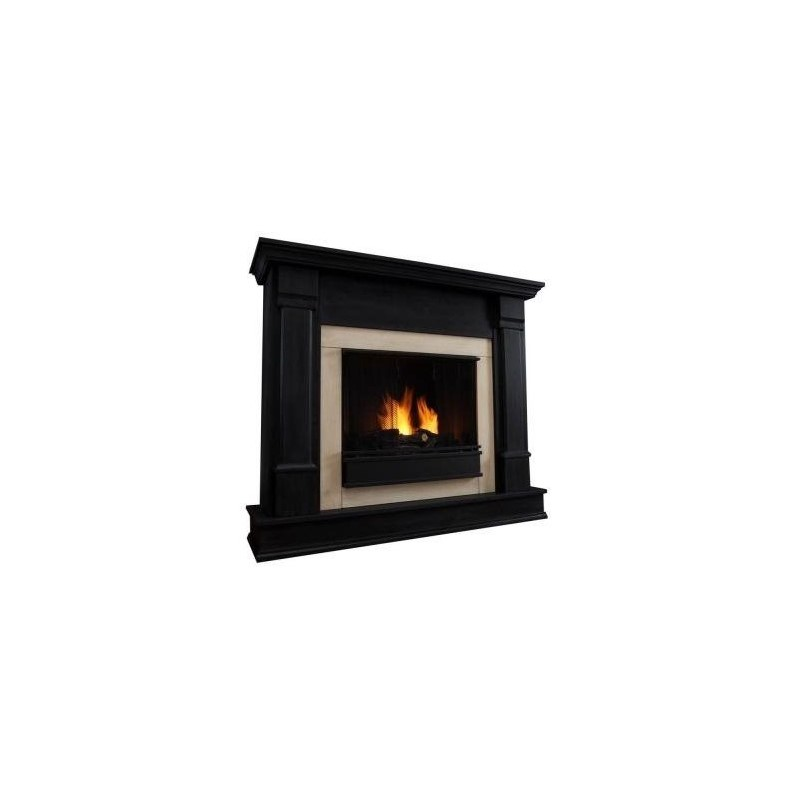 Real Flame Silverton Indoor Gel Fireplace In Black Finish G8600 B