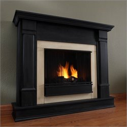 Real Flame Silverton Indoor Gel Fireplace in Black Finish