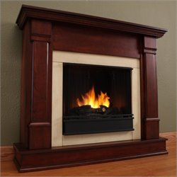 Real Flame Silverton Indoor Gel Fireplace in Dark Mahogany