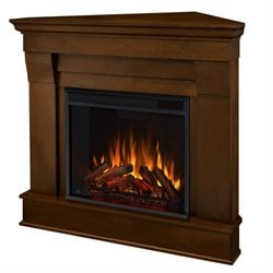 Real Flame Chateau Electric Corner Fireplace in Espresso