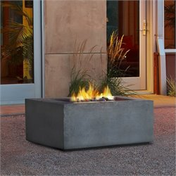 Baltic Propane Fire Table in Glacier Gray