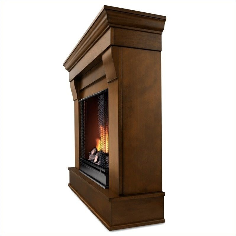 Real Flame Chateau Ventless Gel Fireplace in Espresso Finish