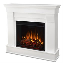 Real Flame Chateau Electric Fireplace in White Finish
