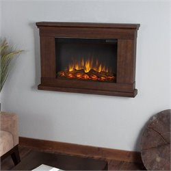 Real Flame Slim Jackson Electric Wall Fireplace in Vintage Black Maple