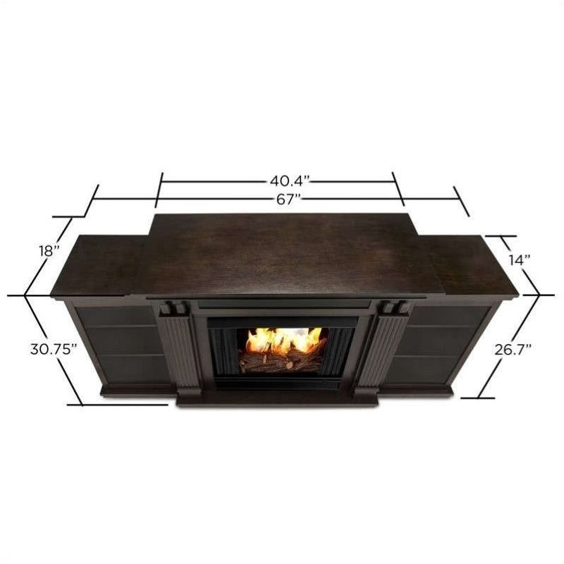Real Flame Ashley Entertainment Center Gel Fireplace Dark Walnut