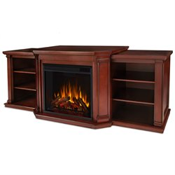 Real Flame Valmont Entertainment Center Fireplace Dark Mahogany
