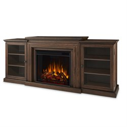 Real Flame Frederick Entertainment Fireplace in Chestnut Oak Finish