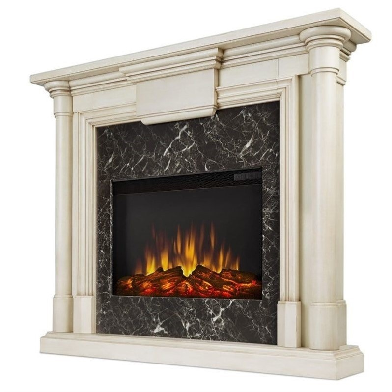 real flame maxwell indoor slim electric fireplace in
