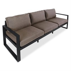 Real Flame Baltic Outdoor Sofa in Gray