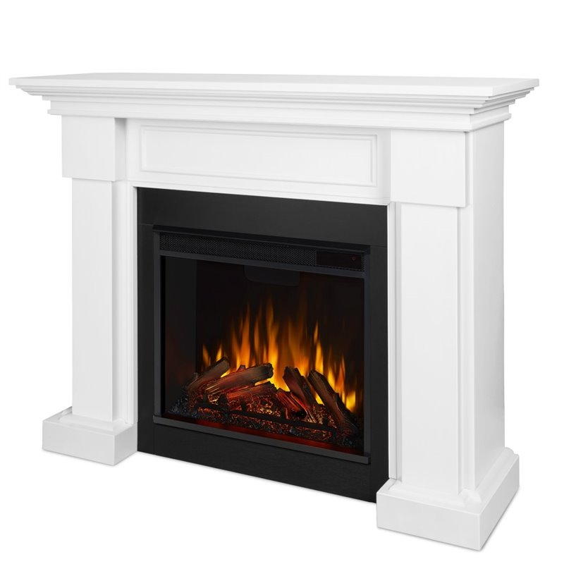 Real Flame Hillcrest Electric Fireplace White 7910e W