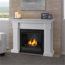 Real Fame Hillcrest Gel Fireplace White