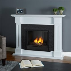 Real Flame Kipling Gel Fireplace White