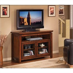 Classic Flame Ventura Media Console in Chestnut Brown